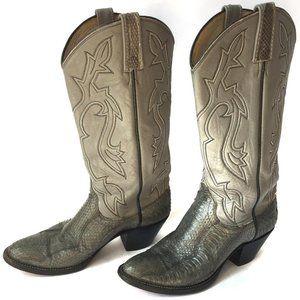 Dan Post Women's Snakeskin & Leather Cowboy Boots